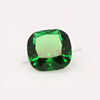 Hot sale cushion cut synthetic stones rough green cubic zirconia price for fashion jewelry