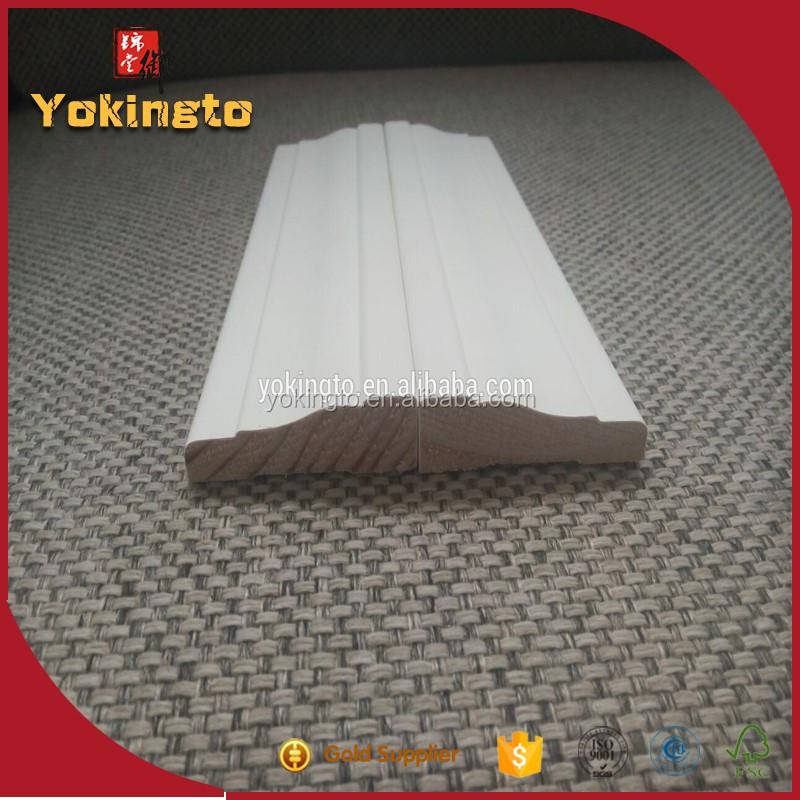 Customized decorative moulding baseboard and shoe molding / cheap baseboard prices