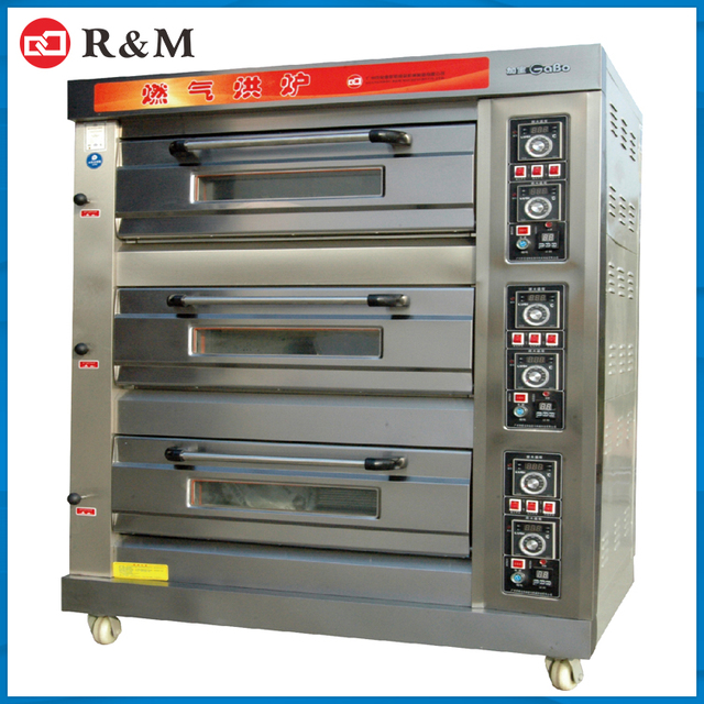 commercial 3 deck baking oven bread making machine best toaster oven for sale