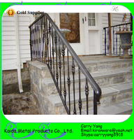 Popular Wrought Iron Series Ornamnetal Metal Outdoor Stairs