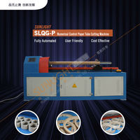 Numerical Control Paper Pipe Spiral Winder, Paper Core Making Machine, With Hlc Double Knives In-Line Cut Off Unit