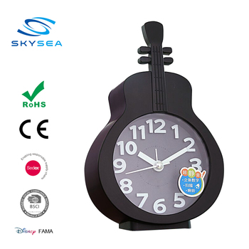 Special Design Guitar Shaped Table Alarm Clock