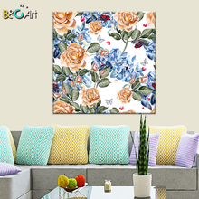 Fine art creative canvas painting butterfly orchid print for living room