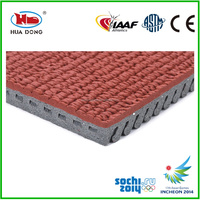Synthetic rubber track surfaces for outdoor sports areas