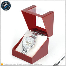 Cheap Simple Red Plastic Watch Gift Box