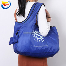 High quality eco-friendly polyester large foldable shopping bag women handbag
