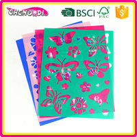 super style Hot Promotion popular cartoon drawing stencil sheet
