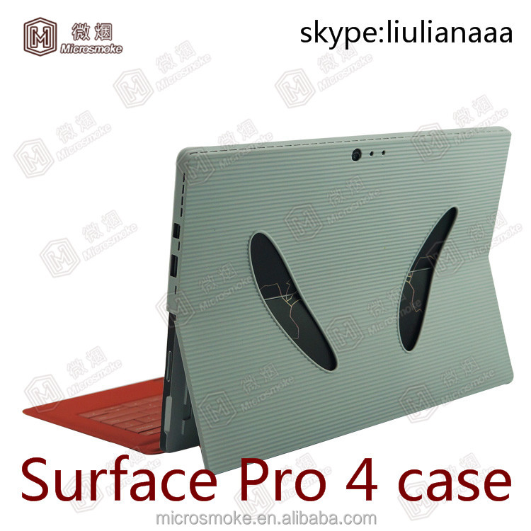 2016 Newest hand strap case for surface pro 4 tablet pc silicone case cover sleeve