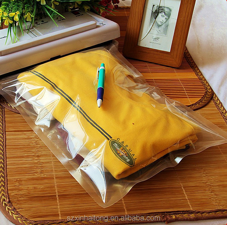 plastic mylar clothes packaging bag/t-shirt packaging plastic bag/packing plastic bag for clothes