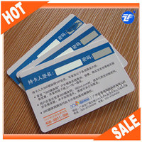 High quality plastic chip card with signature panel