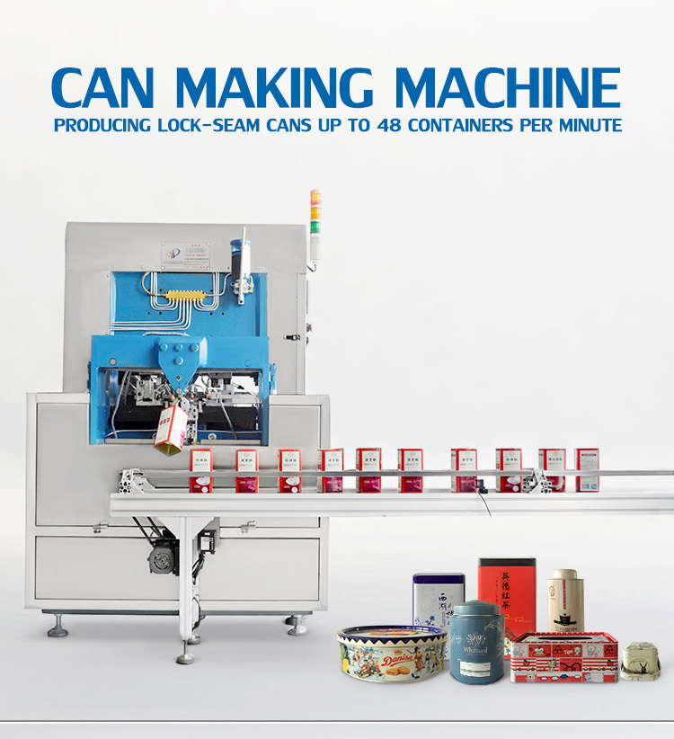 Semi Or Automatic Machine For Coffee Tea Biscuit Food Round Tin Can Factory Manufacturer Making Machine Production line