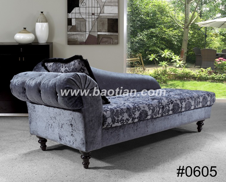 Single seat sofa with Chaise in dark color Arab seating sofa chair for hotel