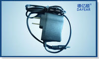 US 12V/1.5A Flat Plug-in wall mount ac dc power adapter for CCTV ,LED,Digital