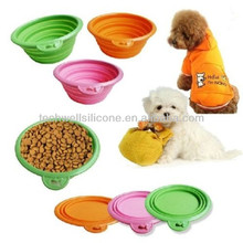 Non-toxic silicone colorful folding pet bowl