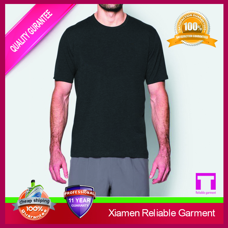 Wholesale cheap promotion mens body slim fit blank tshirt no label