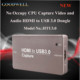 Metal Housing Portable Stream HD Video Live using an HDMI cable USB3 Capture HTU3.0