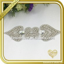 Fantastic sew on crystal patch rhinestone beaded applique diy FRA-084