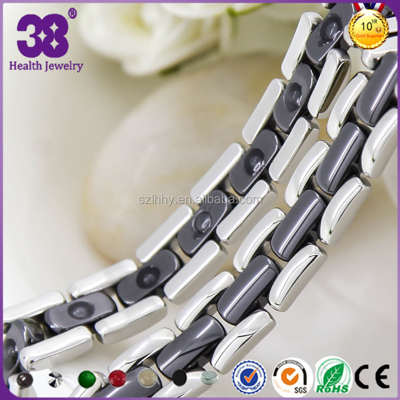 Japanese popular Help blood circulation ceramic steel magnetic bracelet