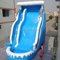 huayu water slide , LZ-B3529 inflatable water slides for rent