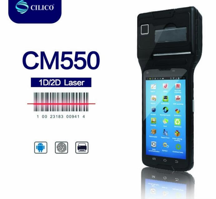 android handheld pos terminal IP65 handheld wireless GPRS android mobile laser pda with mobile printer android pos terminal