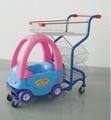 shopping trolley with toy car for supermarket