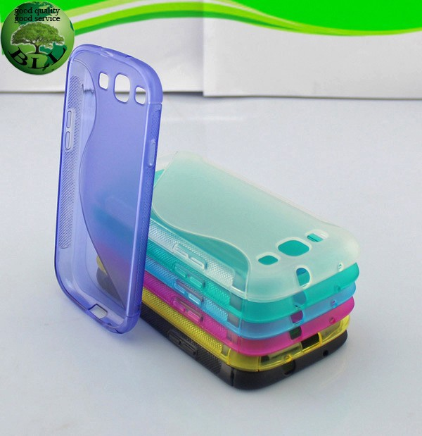 Alibaba China factory s line soft gel TPU cover carcasas de telefonos celulares for Samsung S3 I9300