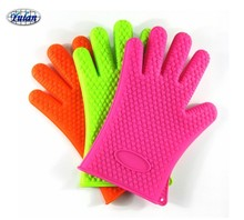 CR301 Heat resistant waterproof oven bbq thickening silicon rubber glove