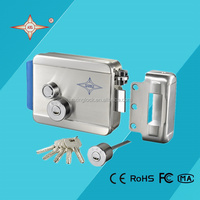 12V DC key electric lock with 304 stainless steel panel for gate push lock
