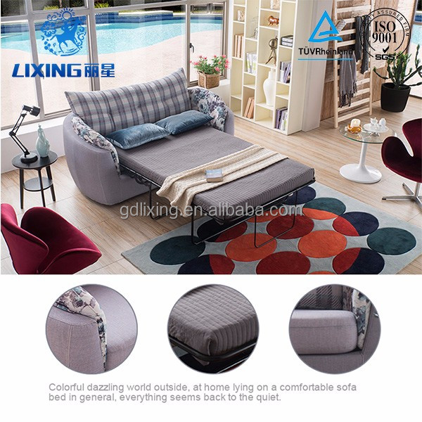 2016 Living Room Furnitures Pull Out Fabric Folding Sofa Bed