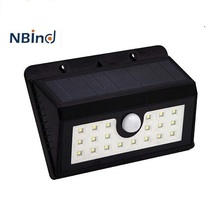 hot sale easy install 20LED outdoor solar power motion sensor IP65 waterproof wall mounted led light pathway stairway