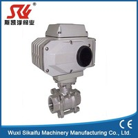 Serviceable electric 3 pc stainless steel ball valve with thread ends top seller