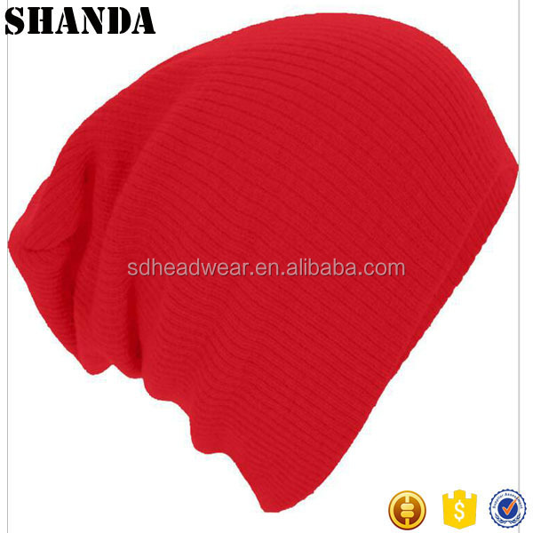 Red Beanie With Custom Logo Winter Custom Toque plain red beanie