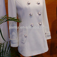 Lady S White Wool Cashmere Coat