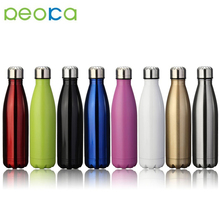 Stainless Steel Copper Lined Cola Shaped Water Bottle Custom Logo with various size