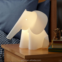 custom cartoon elephant night light for kids/cute animal led light with decoration/3D light lamp