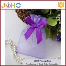 Factory Supplier Popular Design Cheap Custom hot sale organza tote bags with flower bow for sale