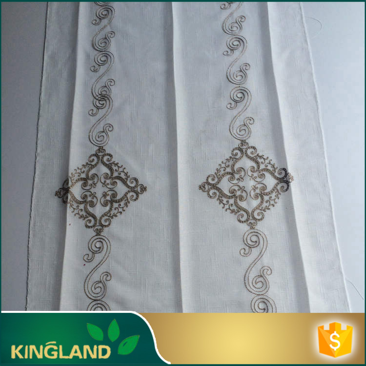 High quality Wholesale Chemical best sell black embroidery lace curtain fabric