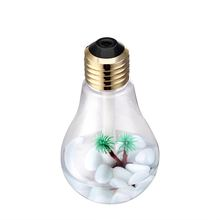 European New Antique Bulb Aromatherapy Humidifier with Colorful LED Night Light for Home Desktop Humidifier