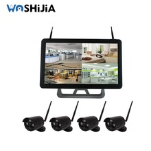 Security outdoor wireless cctv kits 4ch bullet h.264 nvr ip camera kit camera system