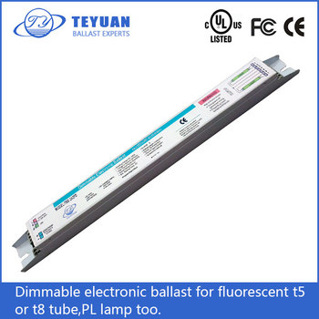 dimmable electronic ballast for fluorescent t5 or t8 tube