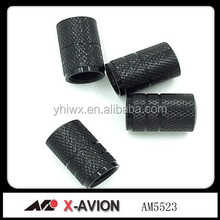 Aluminum black color stock car wheel tire valve caps