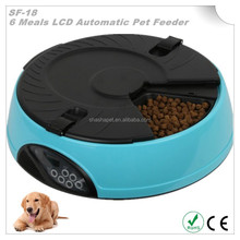 Six separate large food trays Automatic Record Pet Food Feeder and Automatic timed cat feeder