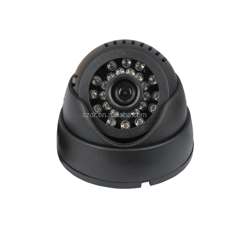 Low price cctv camera with memory card with recording with internal memory with 24pcs IR leds support internal 32GB TF card