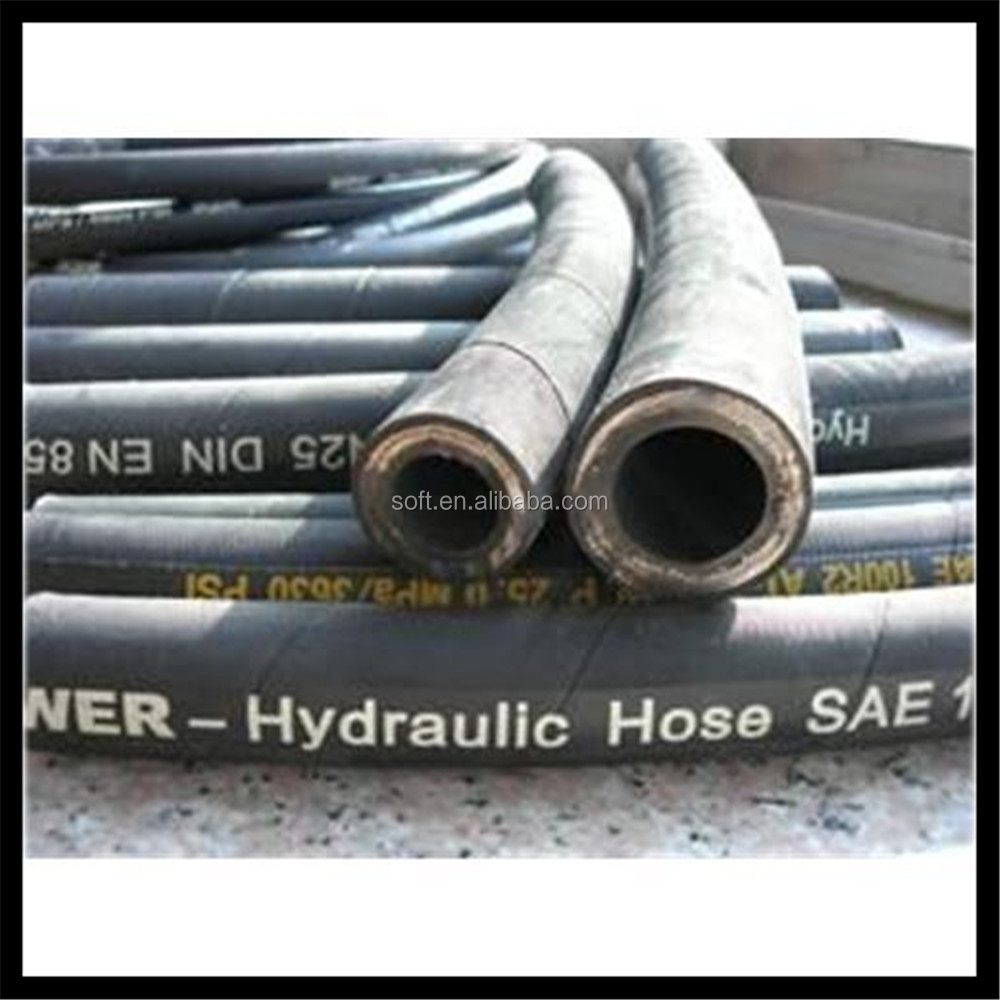 Hoist machinery hydraulic rubber hose SAE100 R12