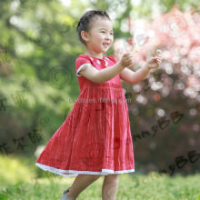 Lastest baby girls red cut Christmas boutique dresses