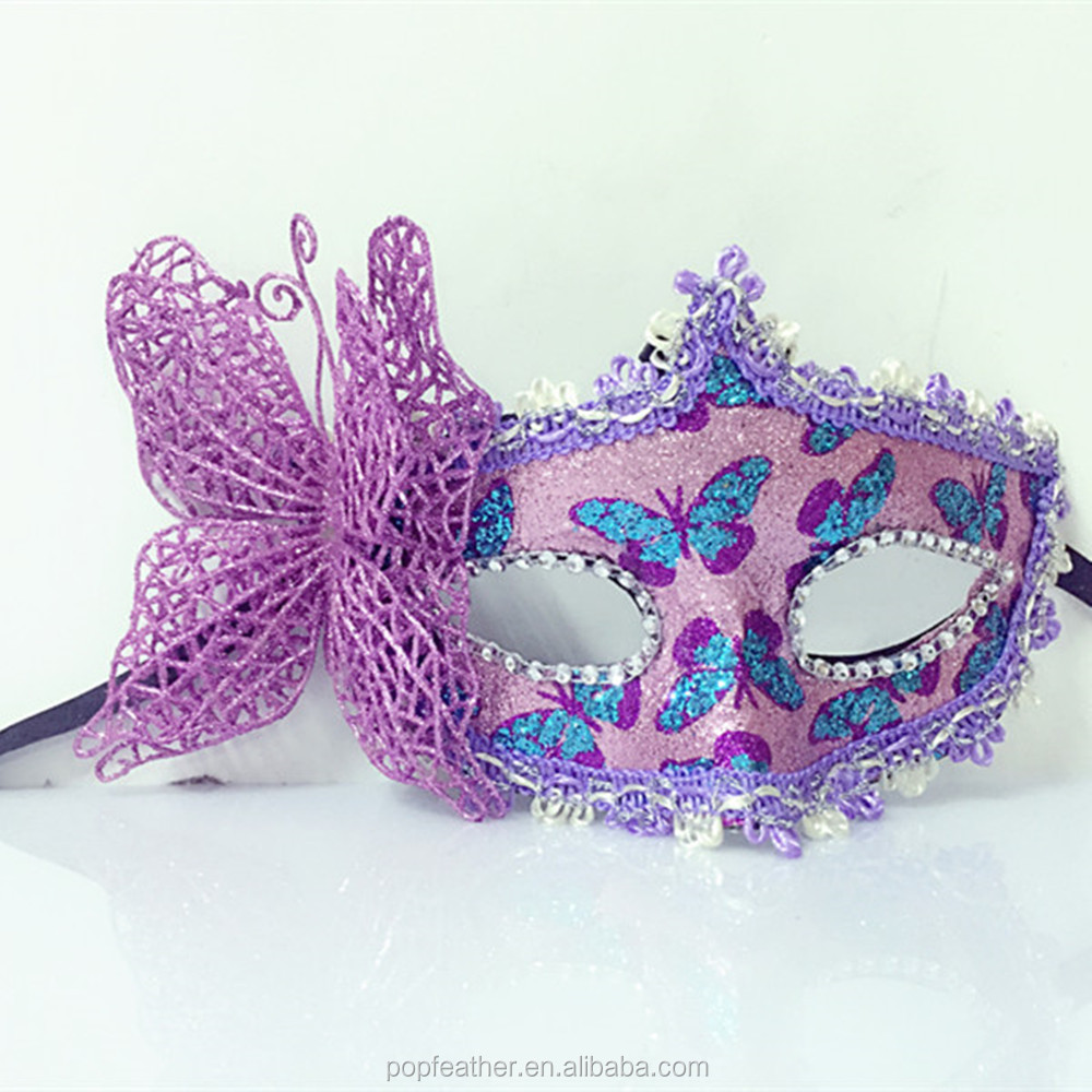 Halloween Party Princess mask Venice cloth painted eye butterfly flowers and party.