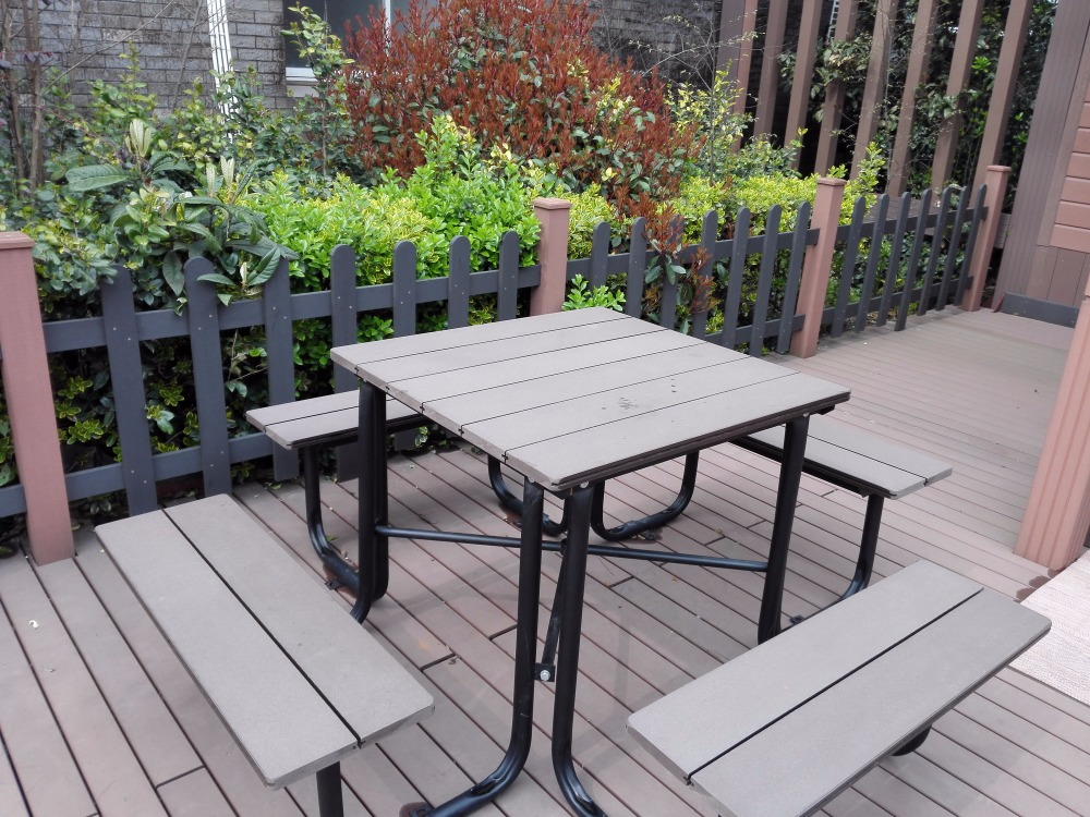 wood plastic composite garden furniture, 2016 latest outdoor furniture, most durable, waterproof, anti-UV
