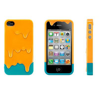 oranger 3D Melt Ice Cream For Apple iPhone 4 4S Skin Protect Hard Case Cover