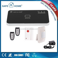 IOS&Android APP controlled intelligent wireless multilanguage mobile call gsm alarm system with back-up rechargeable battery