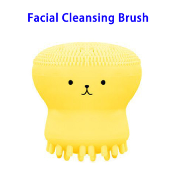 2018 New Arrivals Cute Octopus Silicone Facial Cleansing Brush Massage
